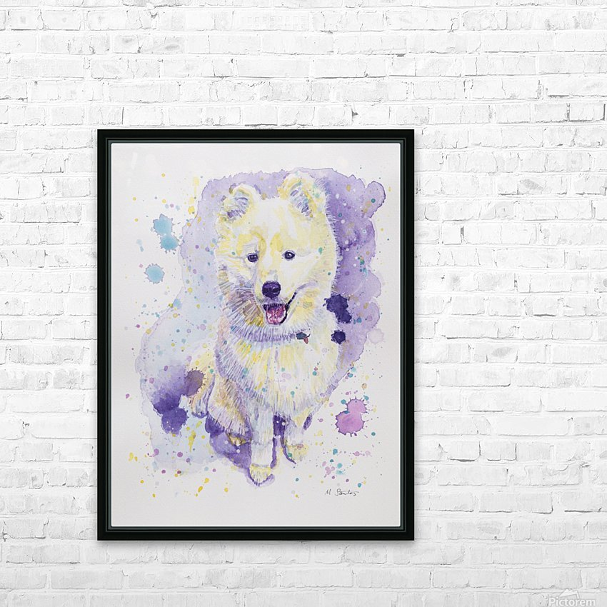 Samoyed Dog - Portrait of Juno HD Sublimation Metal print with Decorating Float Frame (BOX)