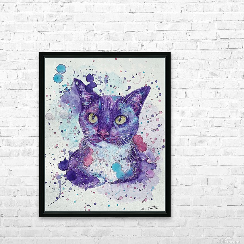 Tuxedo Cat - Portrait of Flash HD Sublimation Metal print with Decorating Float Frame (BOX)