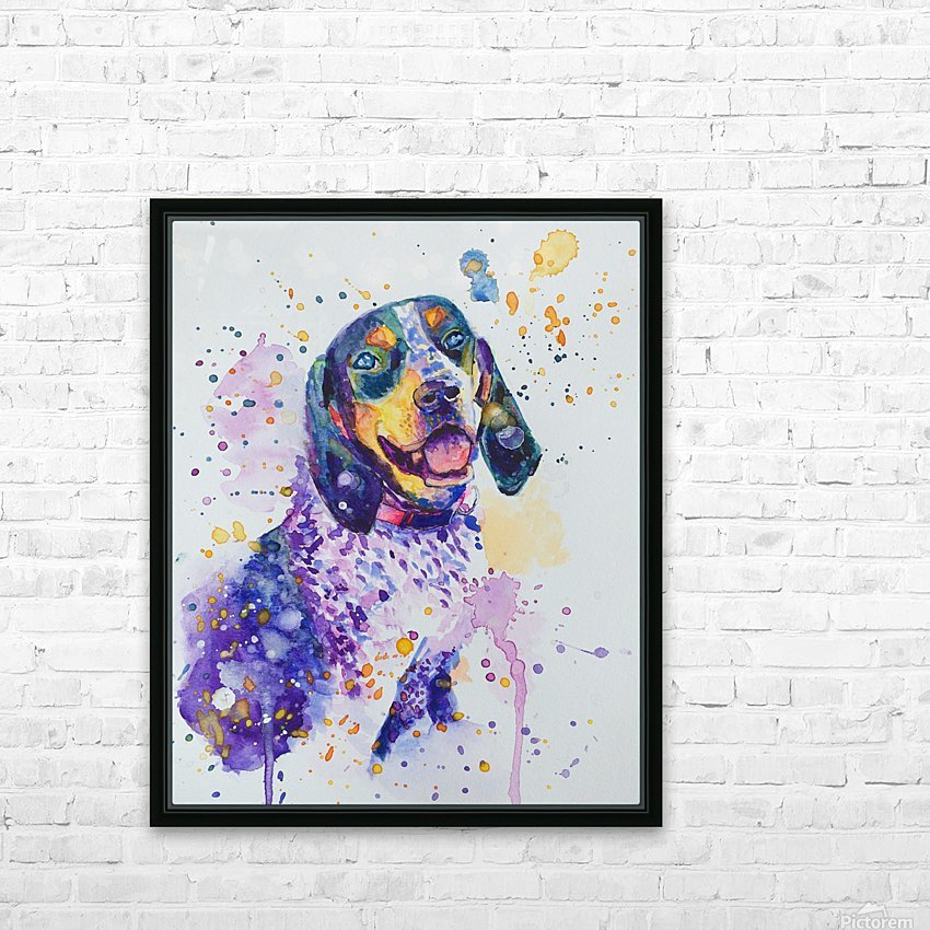 Beagle Dog - Lily Belle HD Sublimation Metal print with Decorating Float Frame (BOX)