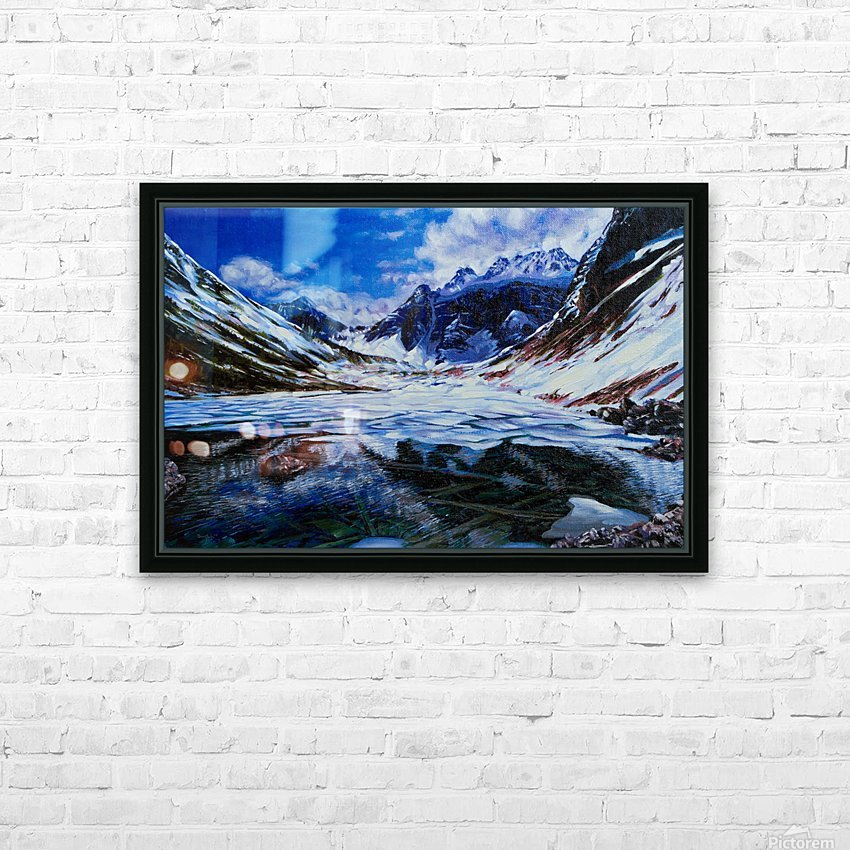 Consolation Lake HD Sublimation Metal print with Decorating Float Frame (BOX)