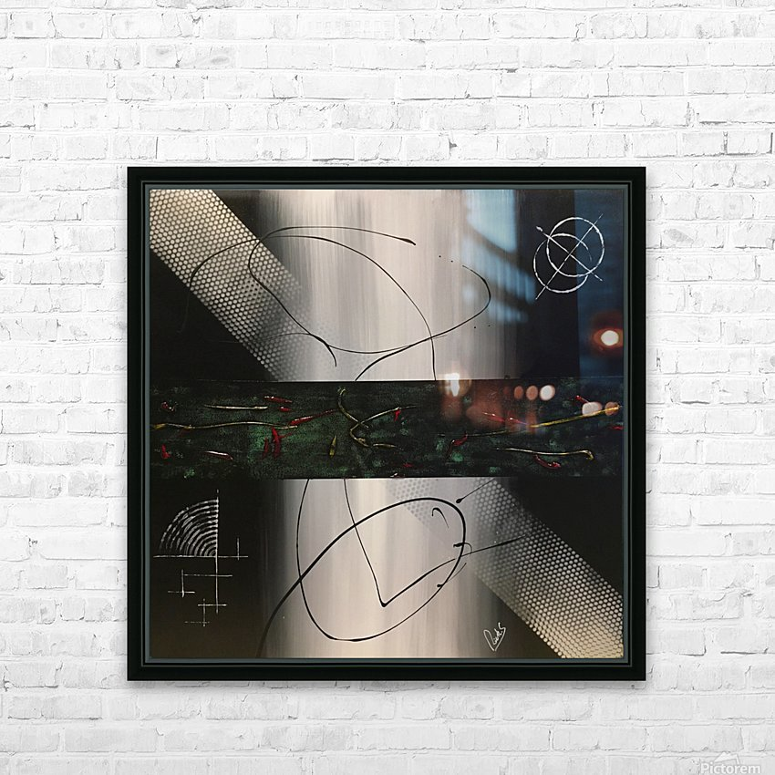 MIDNIGHT HD Sublimation Metal print with Decorating Float Frame (BOX)