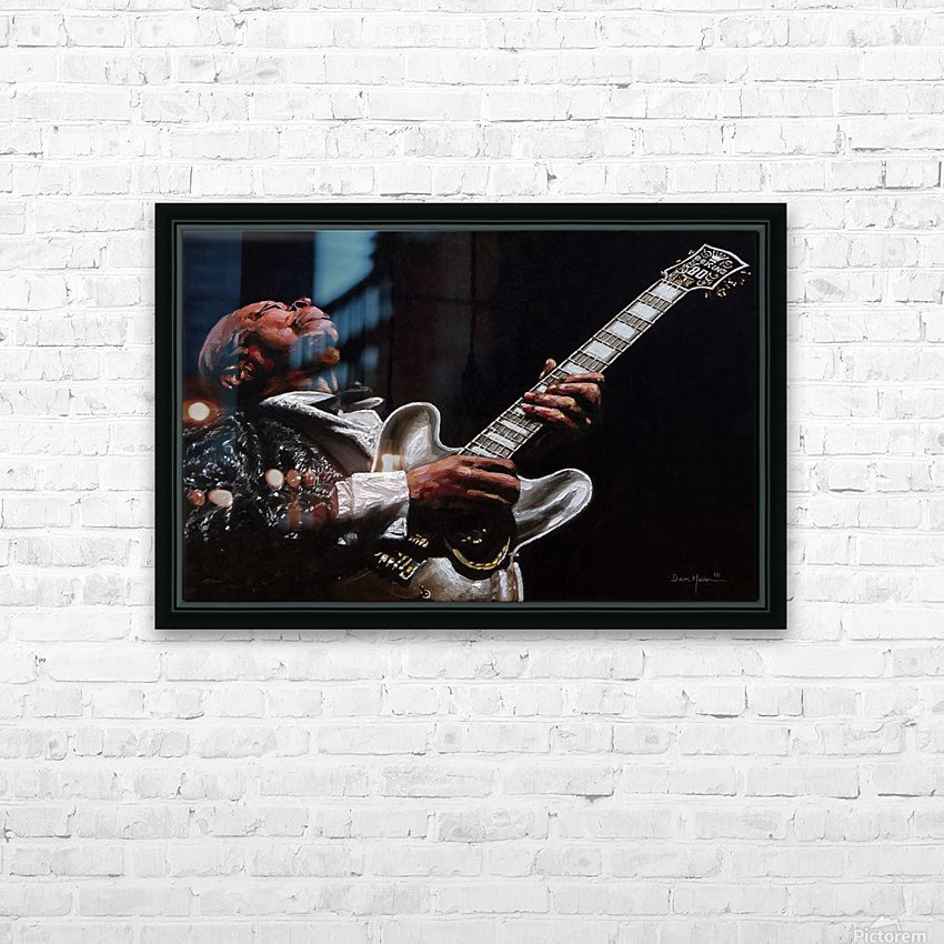 BB King HD Sublimation Metal print with Decorating Float Frame (BOX)