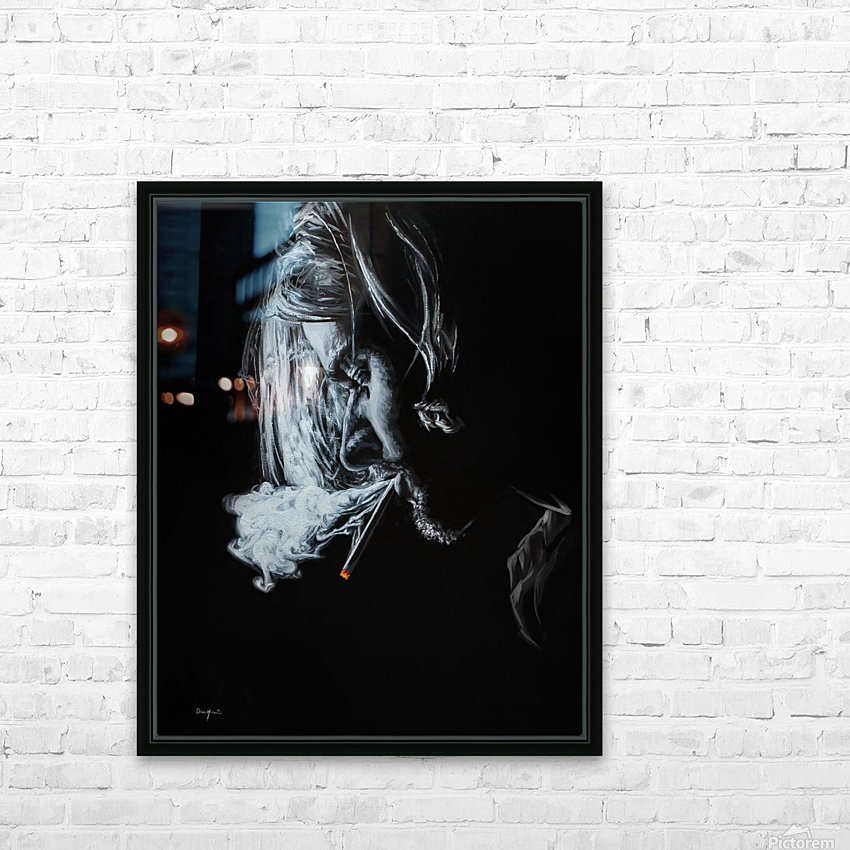 Kurt Cobain HD Sublimation Metal print with Decorating Float Frame (BOX)