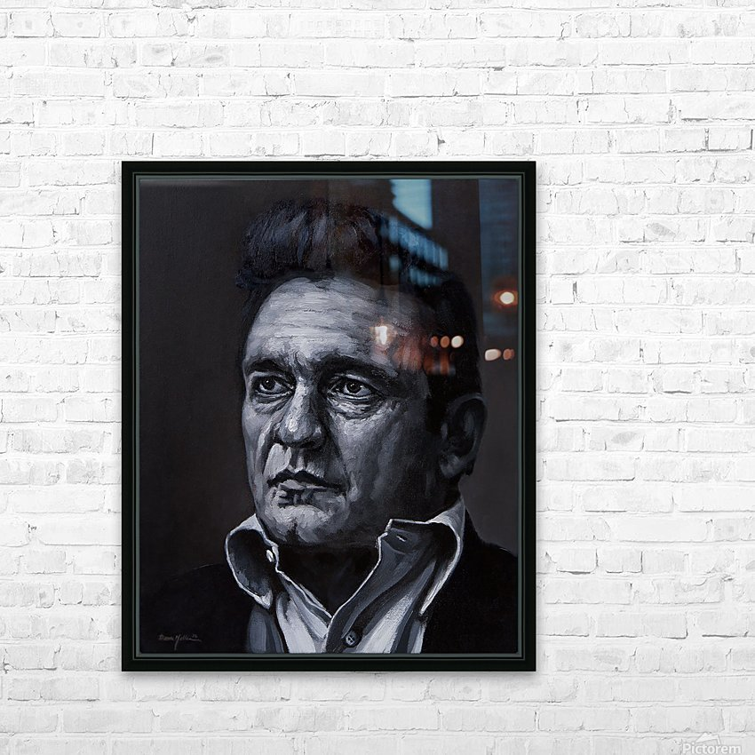johnny cash HD Sublimation Metal print with Decorating Float Frame (BOX)
