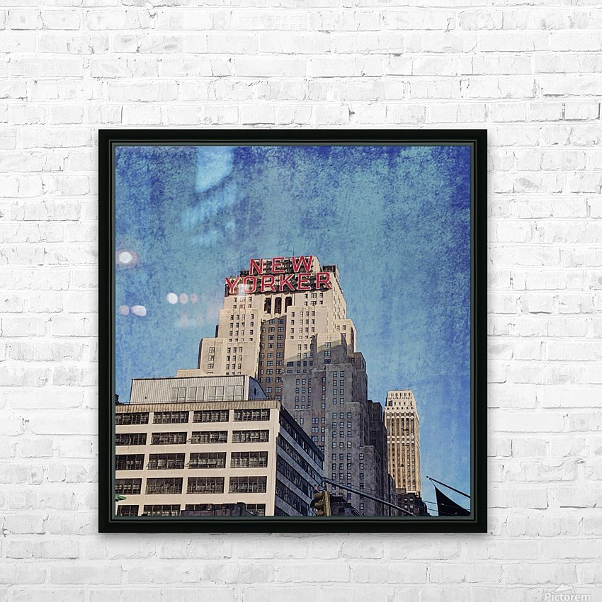 new york med HD Sublimation Metal print with Decorating Float Frame (BOX)