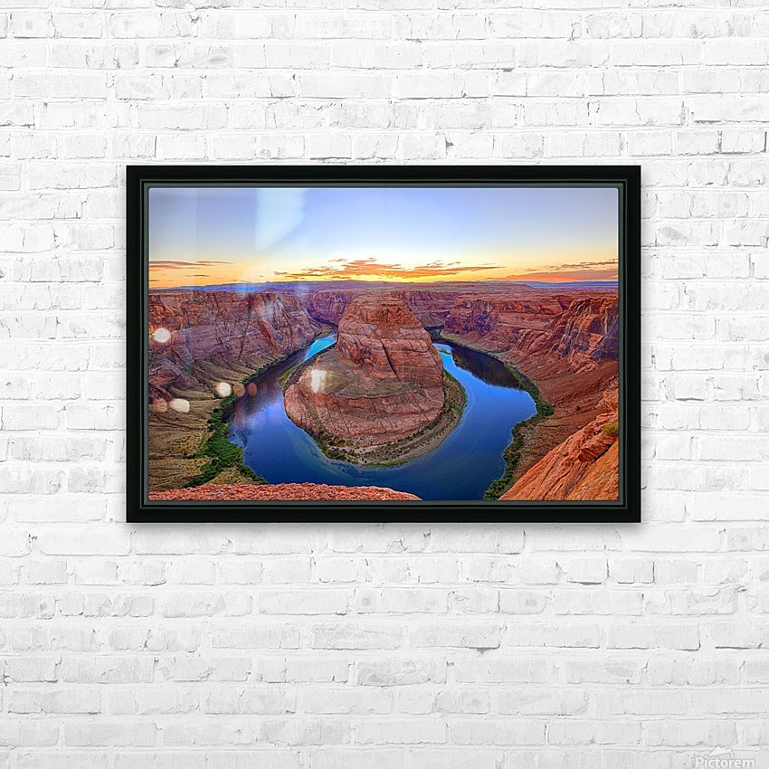 Horseshoe Bend HD Sublimation Metal print with Decorating Float Frame (BOX)