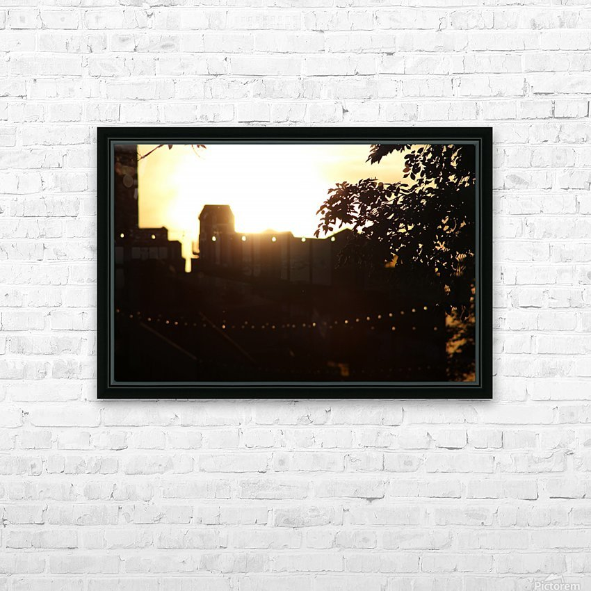 Montreal Sunset HD Sublimation Metal print with Decorating Float Frame (BOX)