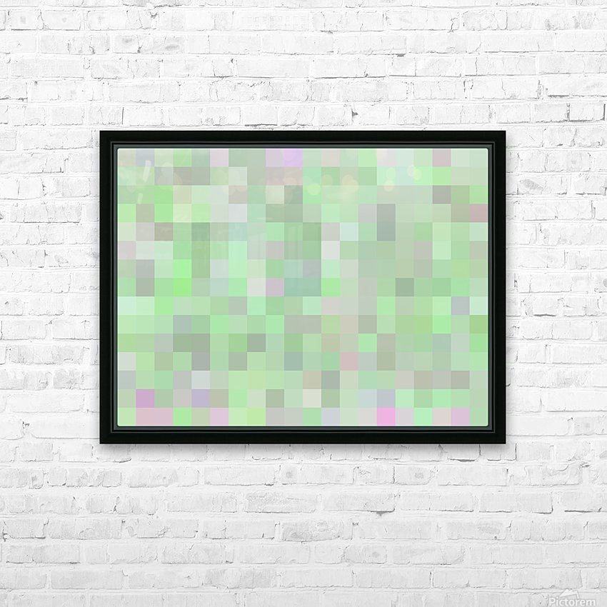 geometric square pixel pattern abstract in green and pink HD Sublimation Metal print with Decorating Float Frame (BOX)