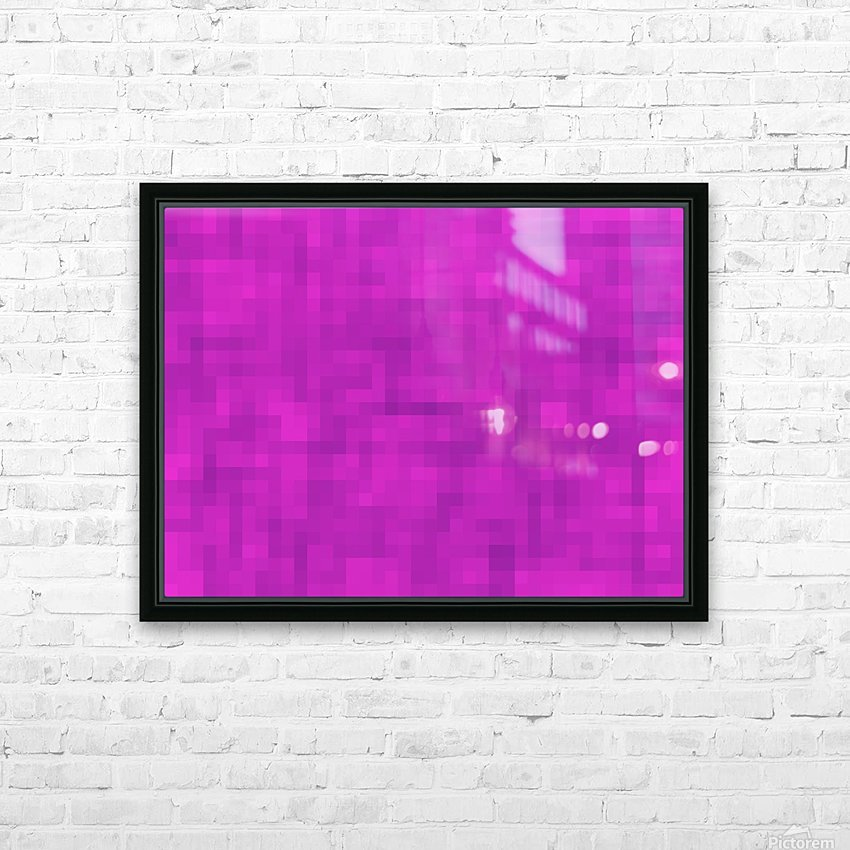 geometric square pixel pattern abstract in pink and purple HD Sublimation Metal print with Decorating Float Frame (BOX)