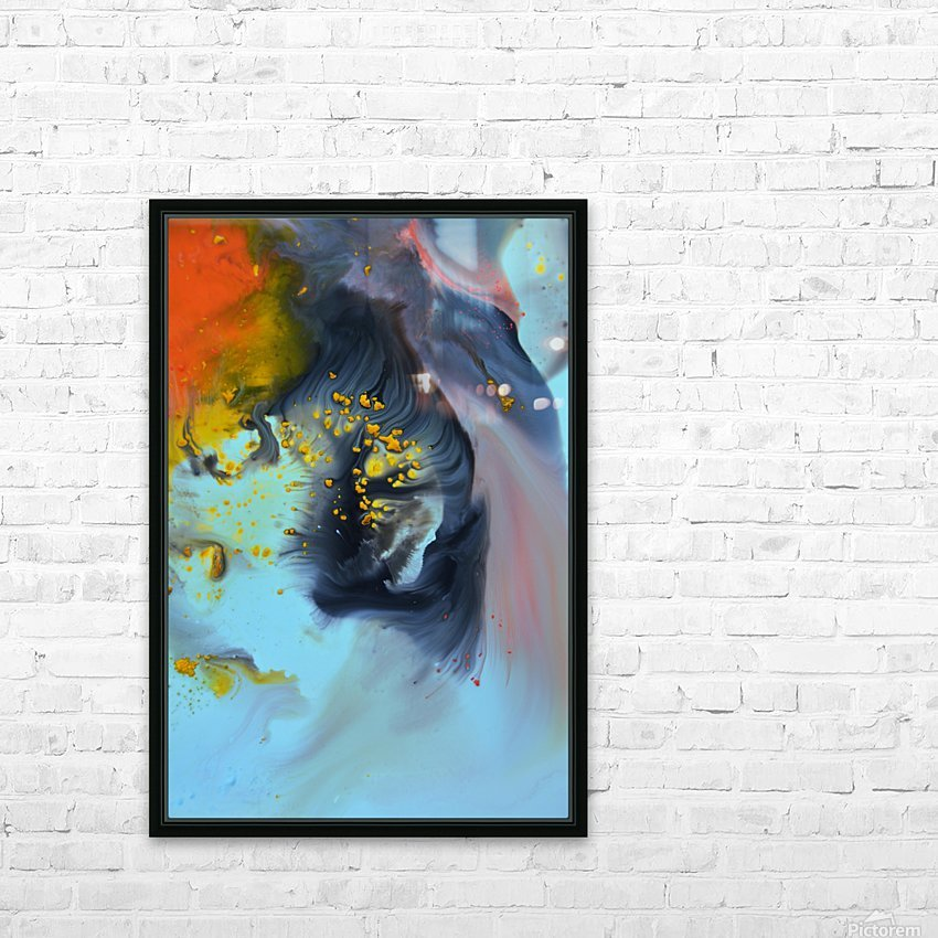 Liquid series 09 HD Sublimation Metal print with Decorating Float Frame (BOX)