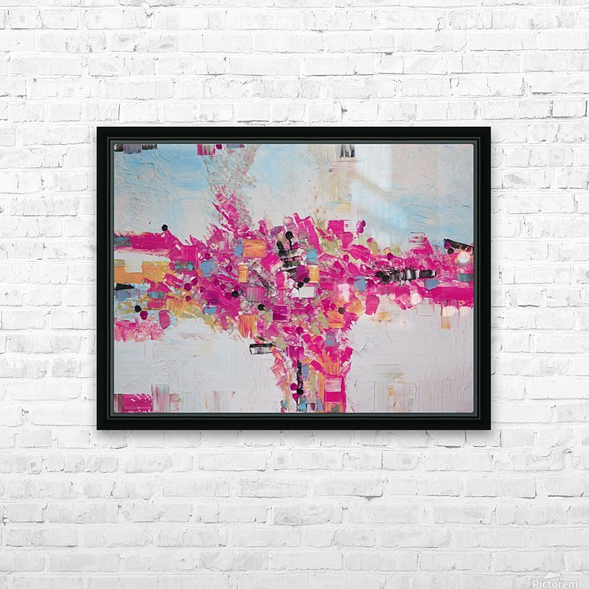 Abstract 02 HD Sublimation Metal print with Decorating Float Frame (BOX)