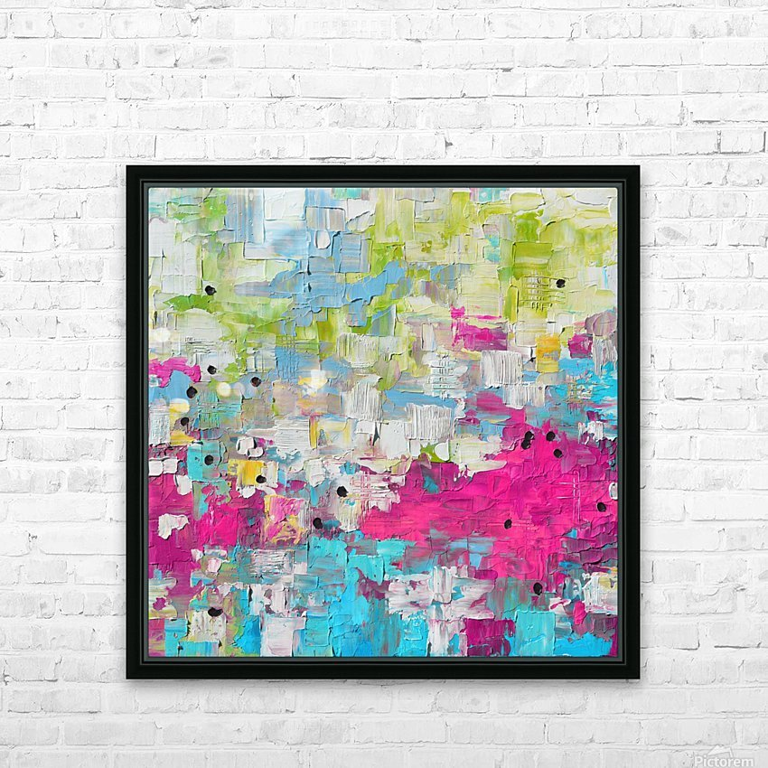 Abstract 21 HD Sublimation Metal print with Decorating Float Frame (BOX)