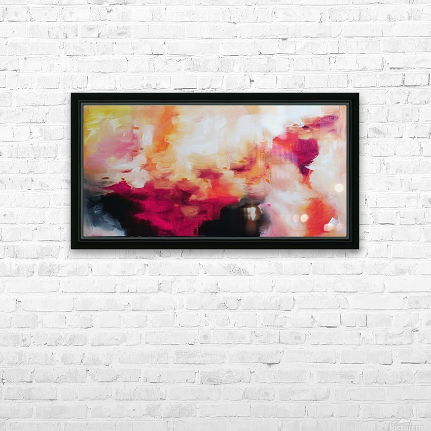 Abstract 33 HD Sublimation Metal print with Decorating Float Frame (BOX)