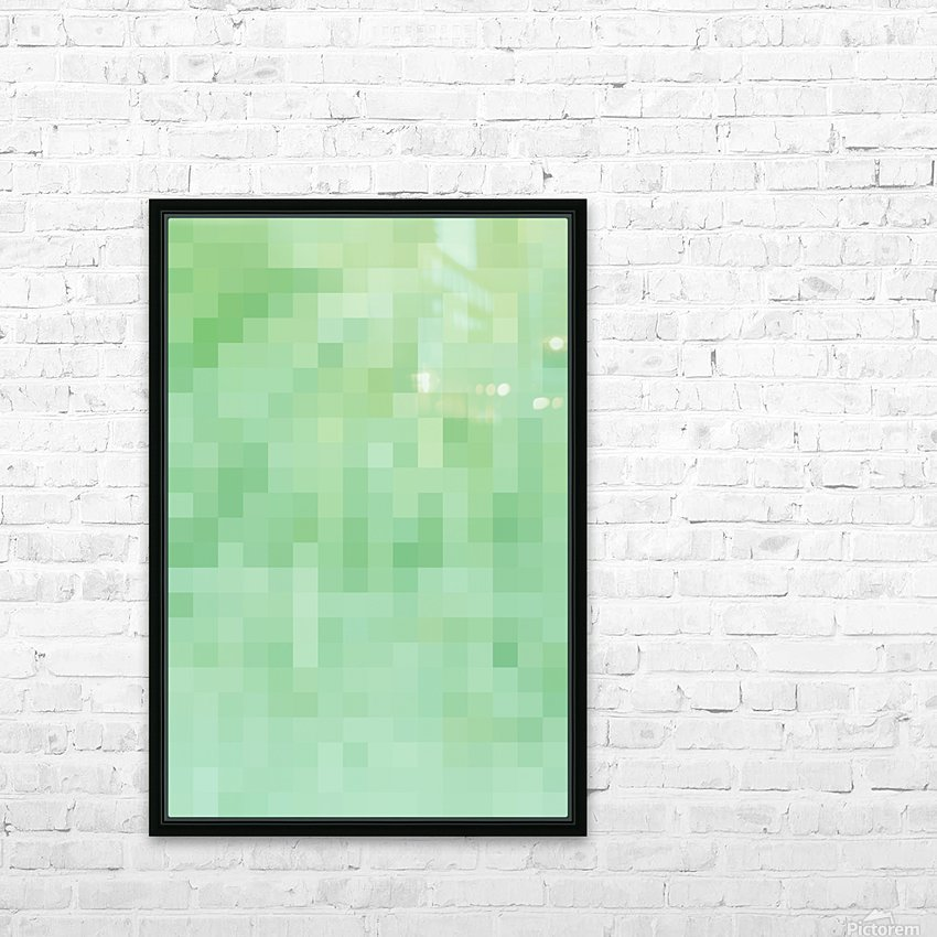 Abstract Pixel Picture - Green shades  HD Sublimation Metal print with Decorating Float Frame (BOX)