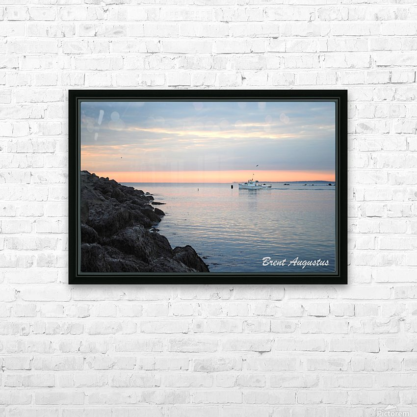 Sunrise Bay HD Sublimation Metal print with Decorating Float Frame (BOX)