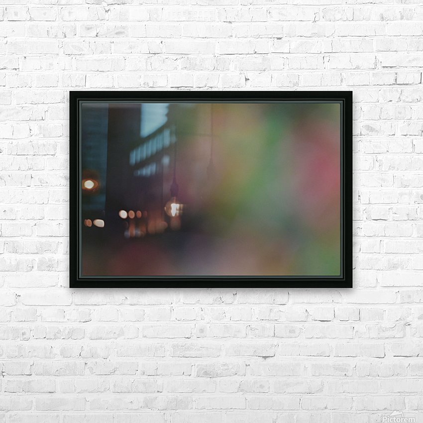 Abstract Art Photograph Bokeh - Red White Yellow and Green HD Sublimation Metal print with Decorating Float Frame (BOX)