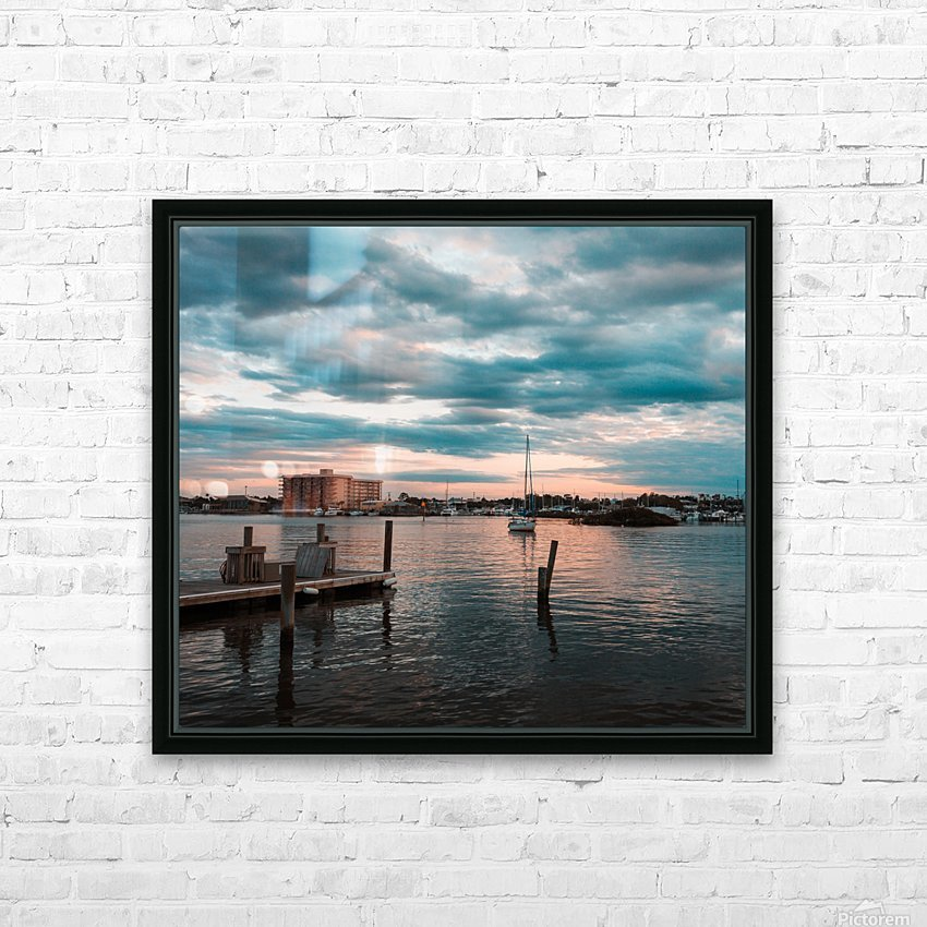 Blue Summer HD Sublimation Metal print with Decorating Float Frame (BOX)