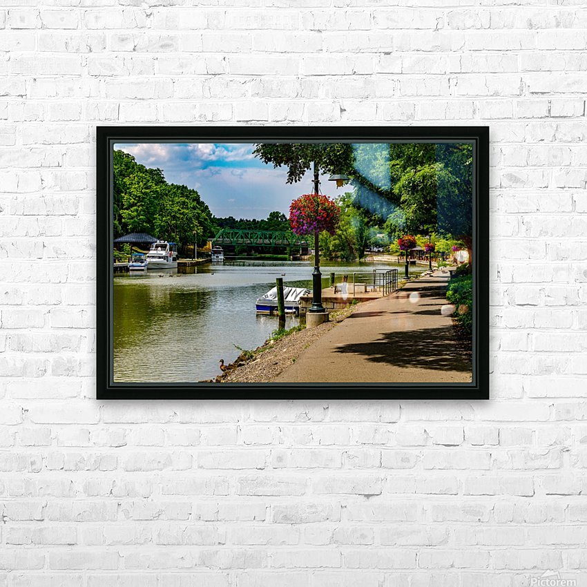 Erie Canal Vacation HD Sublimation Metal print with Decorating Float Frame (BOX)
