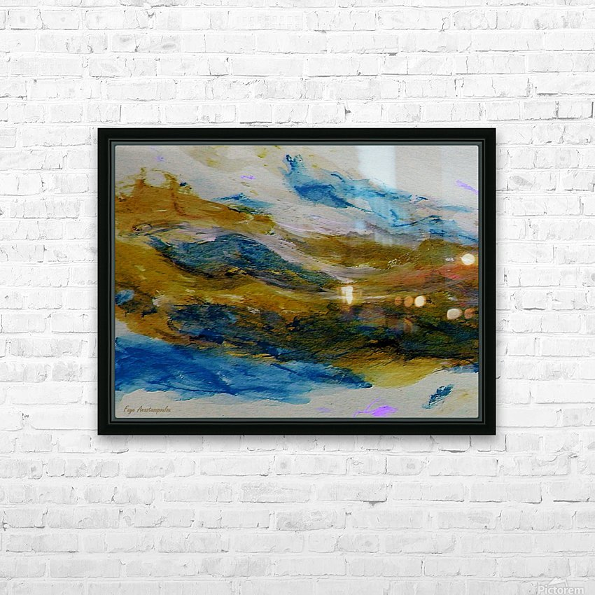 Amber River HD Sublimation Metal print with Decorating Float Frame (BOX)