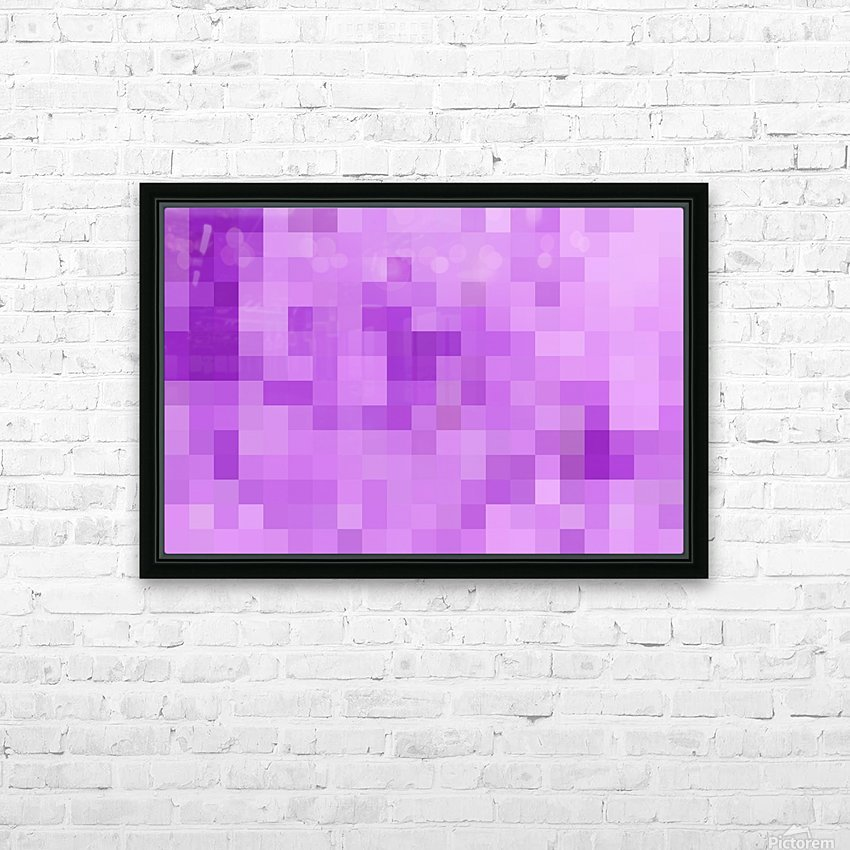 Abstract Pixel Art - Purple Shades HD Sublimation Metal print with Decorating Float Frame (BOX)