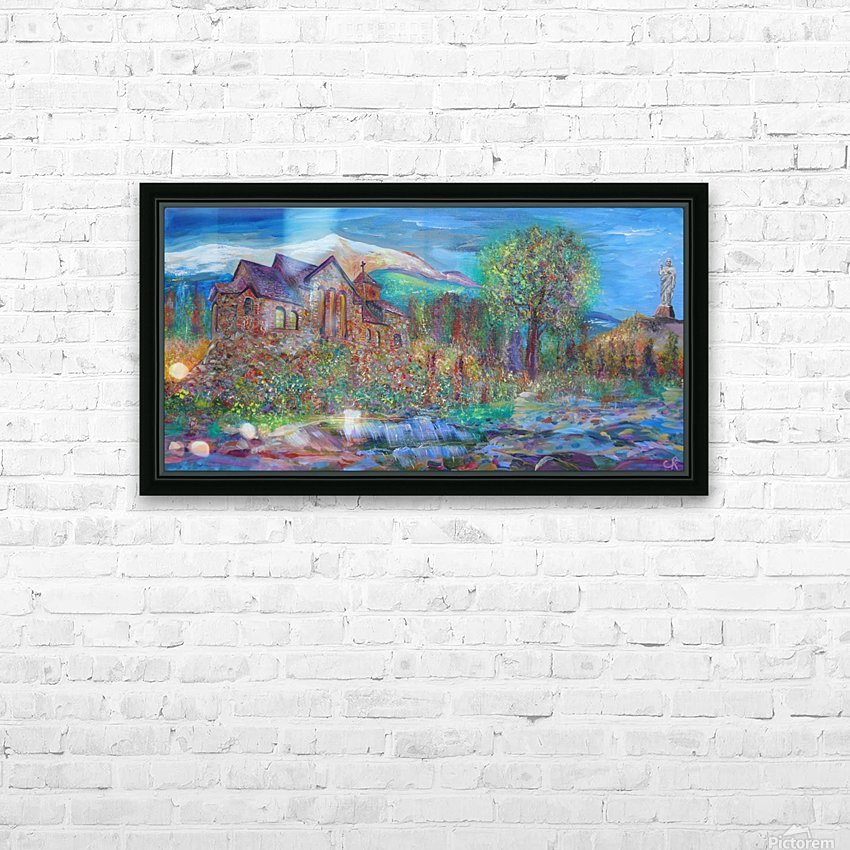 CHAPEL ON THE ROCK  THE SAINT CATHERINE OF SIENA CHAPEL IN ALLENSPARK HD Sublimation Metal print with Decorating Float Frame (BOX)
