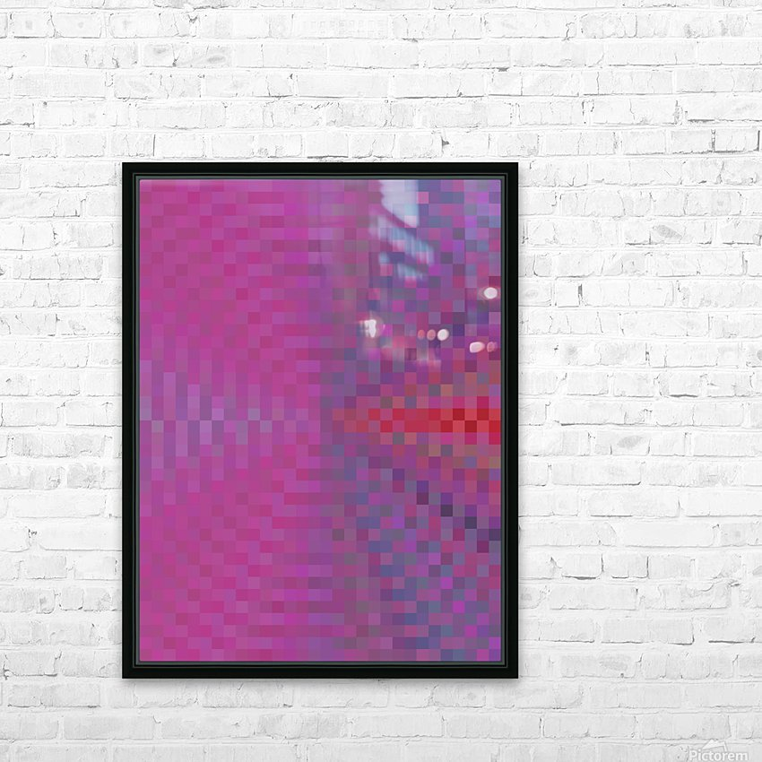 geometric square pixel pattern abstract background in pink and blue HD Sublimation Metal print with Decorating Float Frame (BOX)