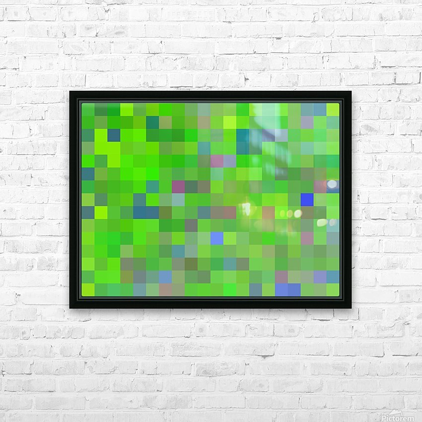 geometric square pixel pattern abstract background in green blue pink HD Sublimation Metal print with Decorating Float Frame (BOX)