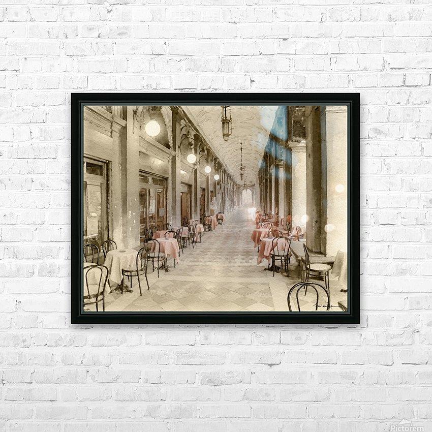 Café Place Saint-Marc Venise HD Sublimation Metal print with Decorating Float Frame (BOX)