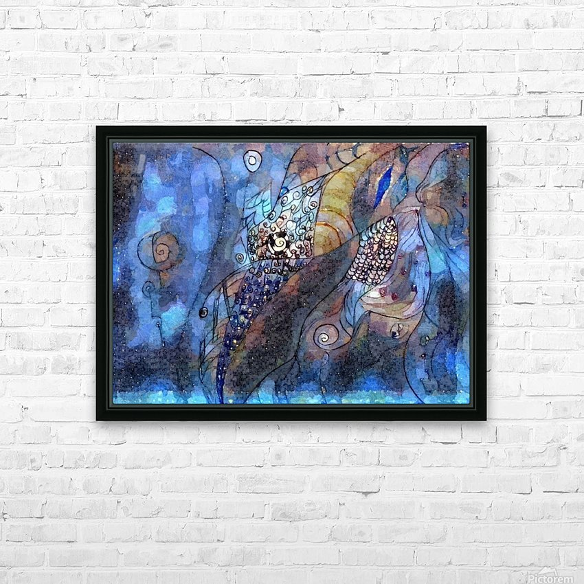 Blue Dimension HD Sublimation Metal print with Decorating Float Frame (BOX)