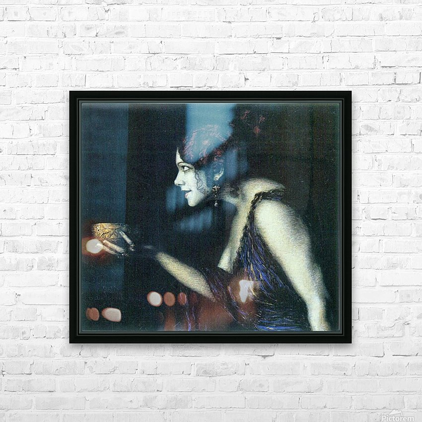 Tilla Durieux as Circe by Franz von Stuck HD Sublimation Metal print with Decorating Float Frame (BOX)
