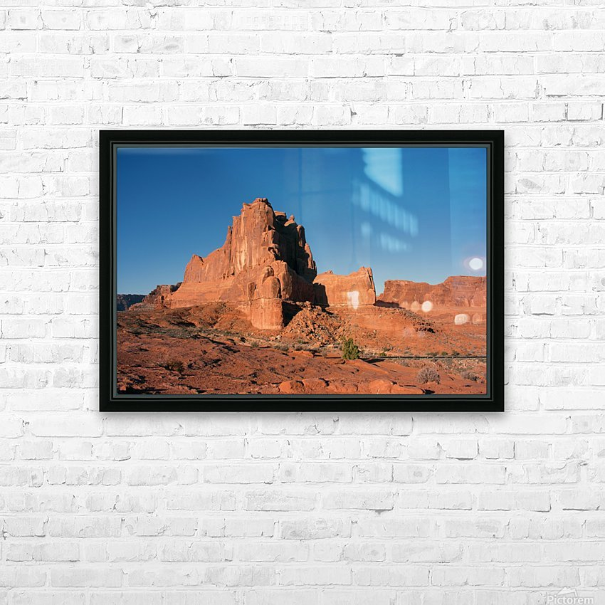 Desert Scape HD Sublimation Metal print with Decorating Float Frame (BOX)