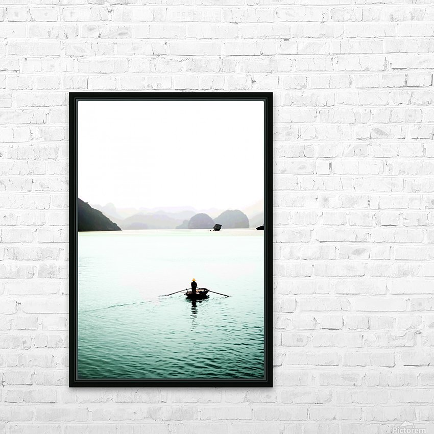 Ha Long Bay Fishing HD Sublimation Metal print with Decorating Float Frame (BOX)