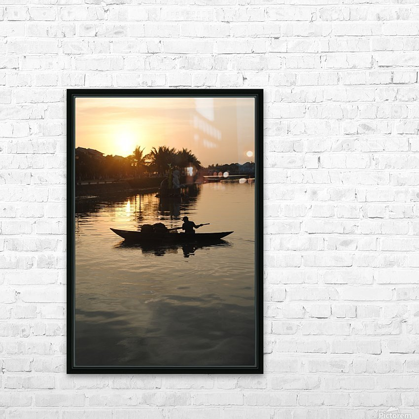 Asian Fishin HD Sublimation Metal print with Decorating Float Frame (BOX)