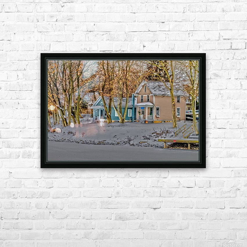 Canalside Living HD Sublimation Metal print with Decorating Float Frame (BOX)