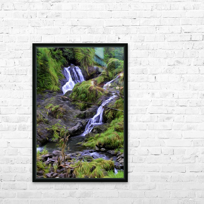Upper Hanawi Falls HD Sublimation Metal print with Decorating Float Frame (BOX)