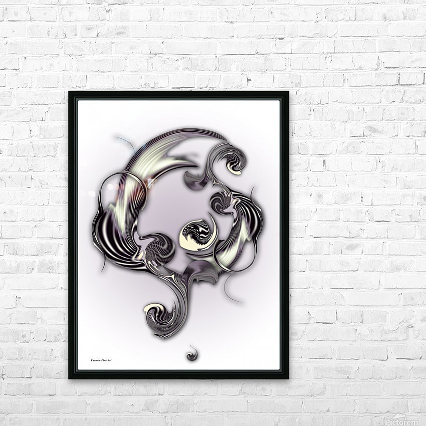 Sketch of Inverse Poetry HD Sublimation Metal print with Decorating Float Frame (BOX)