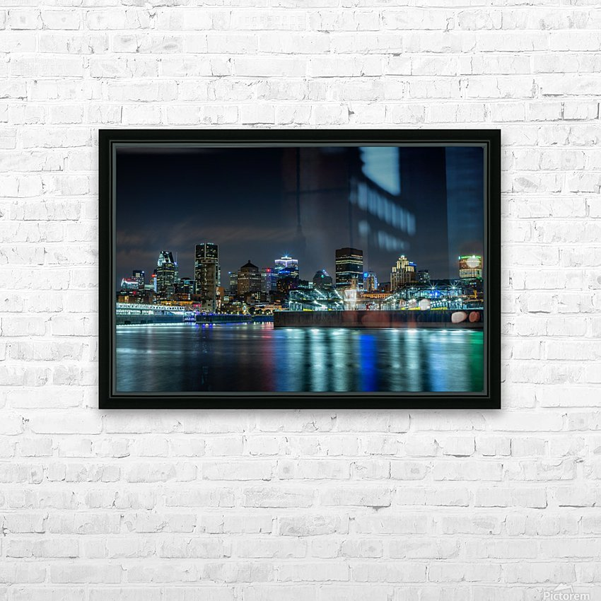 Montreal Skyline HD Sublimation Metal print with Decorating Float Frame (BOX)
