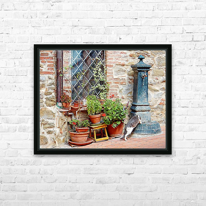 Pawse for a Drink in Paciano HD Sublimation Metal print with Decorating Float Frame (BOX)