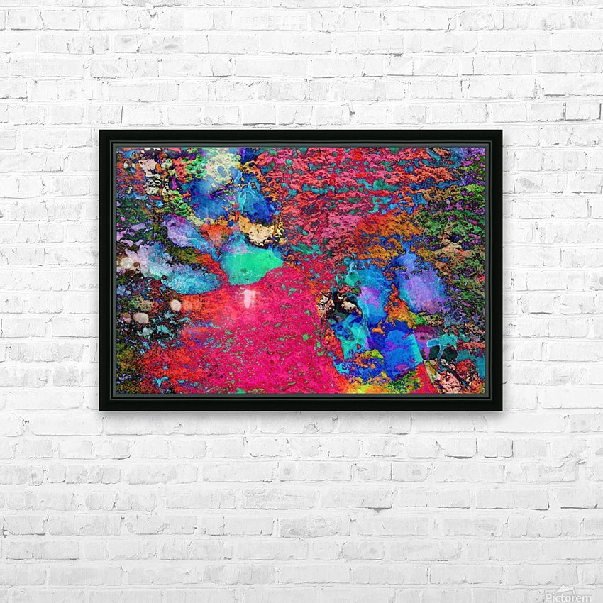 Paw Prints Colour Explosion HD Sublimation Metal print with Decorating Float Frame (BOX)