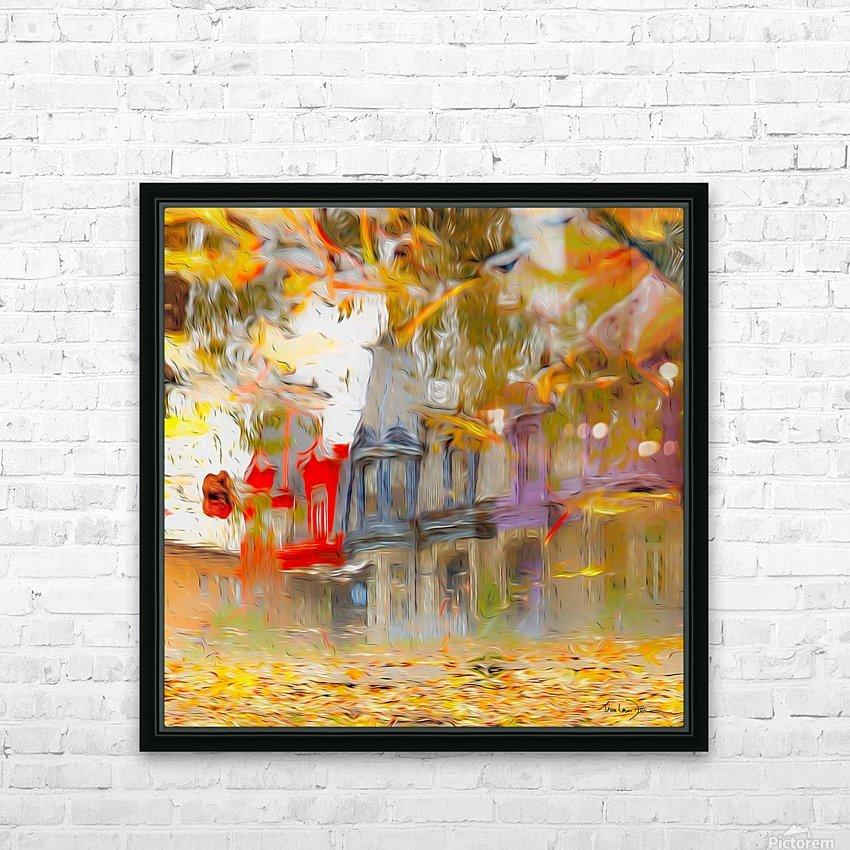 Maisons victoriennes de Montréal HD Sublimation Metal print with Decorating Float Frame (BOX)