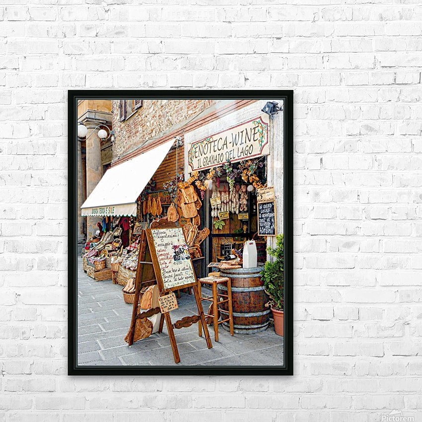 Delicatessens Castiglione del Lago HD Sublimation Metal print with Decorating Float Frame (BOX)