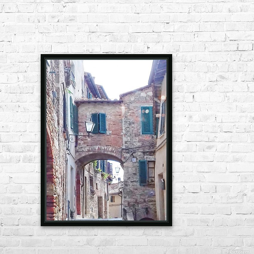 Alleyway Cetona Tuscany HD Sublimation Metal print with Decorating Float Frame (BOX)