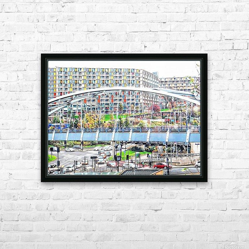 Park Square Bridge Sheffield HD Sublimation Metal print with Decorating Float Frame (BOX)