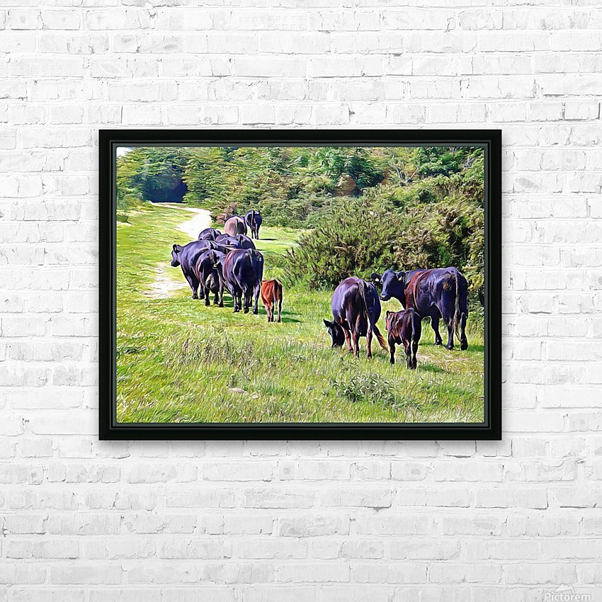 The Long Walk Home HD Sublimation Metal print with Decorating Float Frame (BOX)