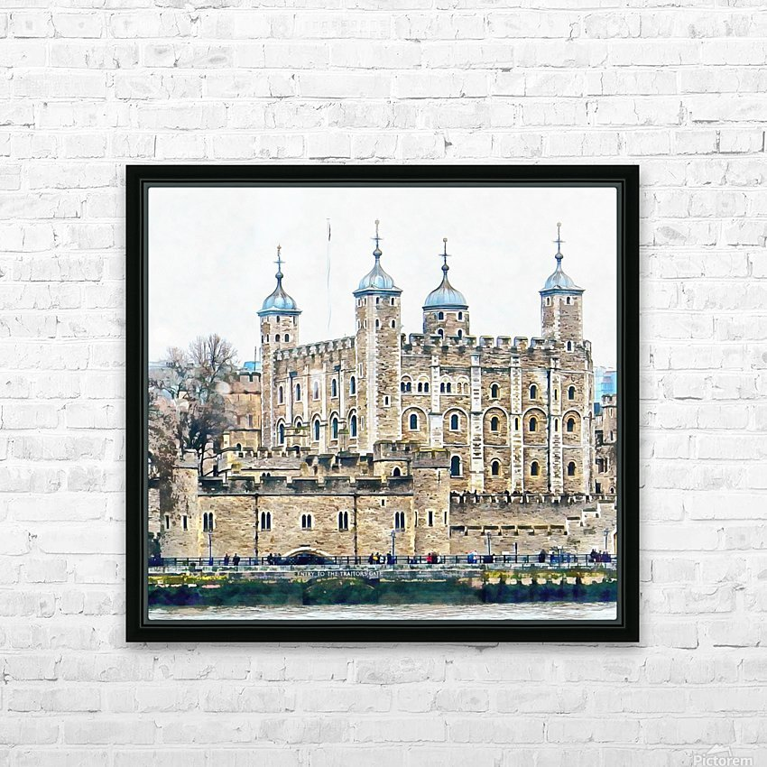 Tower of London 2 HD Sublimation Metal print with Decorating Float Frame (BOX)