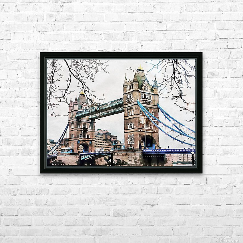 Tower Bridge London HD Sublimation Metal print with Decorating Float Frame (BOX)