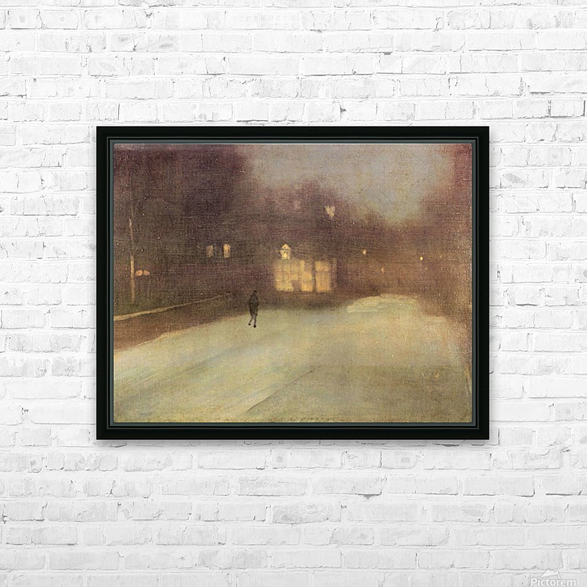 Nocturne in gray and gold, snow in Chelsea by James Abbot McNeill Whistler HD Sublimation Metal print with Decorating Float Frame (BOX)