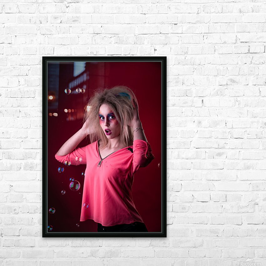 Attractive young girl with disheveled hair  HD Sublimation Metal print with Decorating Float Frame (BOX)