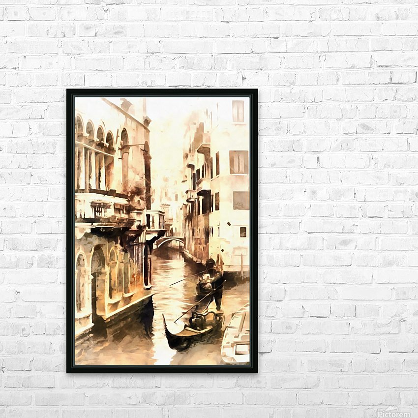 Gondoliers in Venice Vintage HD Sublimation Metal print with Decorating Float Frame (BOX)