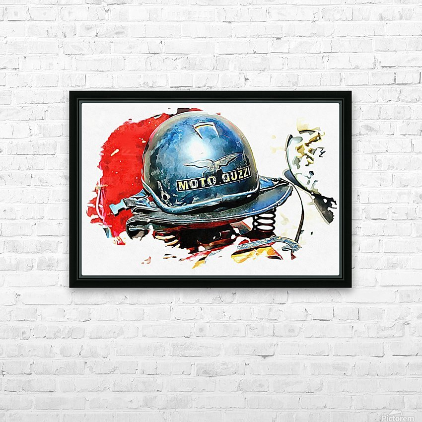 Moto Guzzi HD Sublimation Metal print with Decorating Float Frame (BOX)